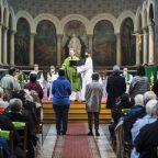 4 octobre 2020 : Appel des catéchistes, lors de l'installation du P. Augustin DENECK, nouveau curé de la paroisse de Notre-Dame-de-la-Gare à Paris (75), France.